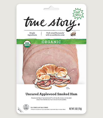 Organic Uncured Applewood Smoked Ham Product Packaging