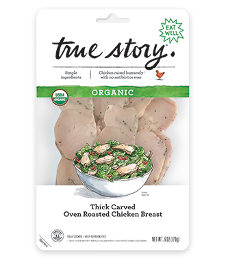 Organic Thick Carved Oven Roasted Chicken Breast Product Packaging