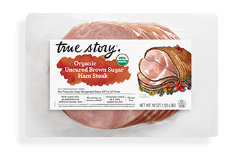 Organic Uncured Brown Sugar Ham Steak (Costco) Packaging