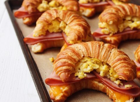 Ham, Cheese, and Egg Croissants