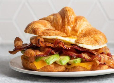 Kurobuta Bacon & Egg Croissant Sandwich